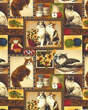 Fabri-Quilt 4 Paws Cat Patch 100% Cotton Fabric by the yard