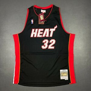 100% Authentic Shaquille O'Neal Mitchell Ness 05 06 Heat Jersey Size XL 48 Mens