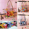 2Pcs Women Transparent Handbag Shoulder Bag Clear Jelly Purse Candy PVC Tote Bag