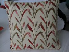60 x 30cm Handmade Feather Cushion in Voyage Wilderness Plum with Wool Backing.