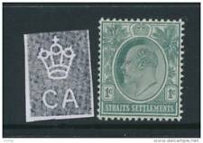 STRAITS SETTLEMENTS, 1905 1c  wmk single crown CA very fine Mounted mint (D)