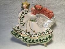 Fitz and Floyd Essentials Moonbeams Display or Wall Plate Angel Discontinued