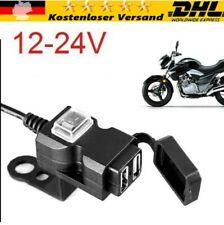 12V Motorrad Lenker Dual USB Buchse Steckdose Ladegerät Schalter Wasserdicht DHL