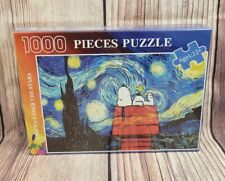 Snoopy Under The Stars 1000 Pieces Puzzle Starry Night Peanuts NEW SEALED