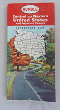 1960 Central & Western United States  road  map Humble oil  gas route 66