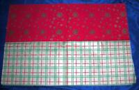 2 HUGE VTG LG SHEETS 1940'S Dennison  XMAS GIFT WRAPPING WRAP PAPER, Crafts