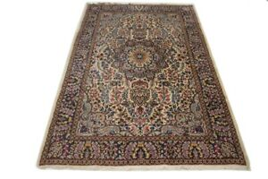 One of a Kind Vintage Classic Floral 5X8 Kirman Oriental Rug Hand-Knotted Carpet