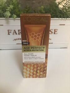 L'oreal Age Perfect Hydra-nutrition All Over Honey Balm 1.7oz NIB Free Ship