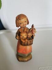 "Anri Ferrandiz Basket of Joy 6"" limited edition wood carvings"