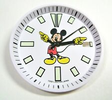 NEW SET OF MICKEY MOUSE DIAL, HANDS AND CHAPTER RING FOR 7002 DIVER MICKEY MOUSE