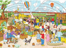 The House Of Puzzles - 1000 PIECE JIGSAW PUZZLE - Garden Follies Cartoon
