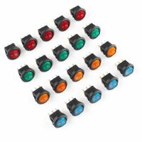 US 20Pcs LED Dot Light 12V Car Boat Auto Round ON/OFF Rocker Toggle SPST Switch
