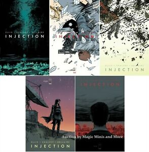 INJECTION (5) Issue Comic Run #1 2 3 4 5 iMAGE 1st print set lot