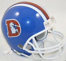 DENVER BRONCOS 1975-1996 THROWBACK NFL FOOTBALL MINI HELMET BLUE D NEW IN BOX