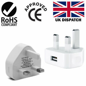 Genuine CE Wall Plug USB Charger Adapter for Samung iPhone iPad 5 s 6 7 8 X plus