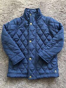 Joules Boys Navy Blue Padded Coat Jacket Age 4 Years