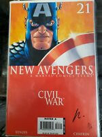 2006 New Avengers: Civil War #21 Howard Chaykin Signed 10/119 CoA High Grade