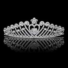 Jewelry & Watches Engagement & Wedding Wedding Tiara Rhinestone Bead Gold Crystal Crown Pageant Prom Veil Hr619