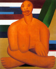 A Negra    by Tarsila do Amaral  Giclee Canvas Print Repro