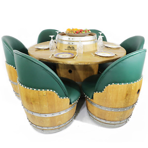 6-Chair Barrel Dining Set - Free Shipping