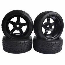 9mm Offset RC 1/10 On-Road Drift Car Hard Tires &Wheel Rim flying fish 8030-9015