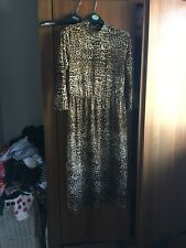 warehouse sheer leopard skin dress size 14 unworn
