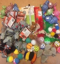 20 X  Bulk Buy Cat Kitten Toys Rod Fur Mice Bells Balls  Catnip BARGAIN JOB LOT