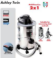 New Lavor Ashley Twin 2 In 1 Ash Vacuum Cleaner 800W 28 Litre Steel & Warranty