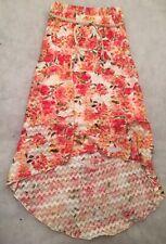 Amy Byer Girl's Floral High-Low Hem Skirt Size Medium (10-12)