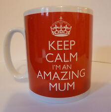 Keep Calm I'm An Amazing Mum Gift Mug Cup Present Mom Mother's Day Mummy Love
