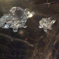New Listingswarovski beaver mom and baby crystal figurines