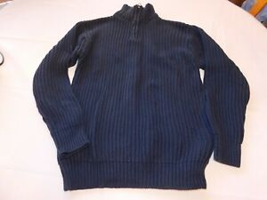 Gap Kids Boy's Youth Long Sleeve 1/4 Zip Sweater Shirt Navy Blue L 10 GUC