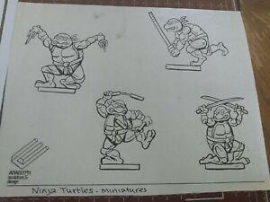 Vintage TMNT Action Figure toy concept art 1980's cartoons teenage model sheet
