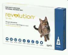 Revolution For Cats 2.6-7.5 kg 3 Pack Flea Heartworm Ear Mites Expiry 11/2019