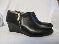 Adrienne Vittadini Black Wedge Boots