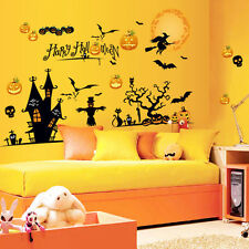 Funny Halloween Party Home Room Decal DIY Wall Window Sticker Mural Decorations