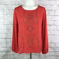 Altar'd State Women's Small Blouse Red