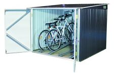 Metal Bicycle Store Duramax 6' x 6' Anthracite Off White 4 Bikes Bike Cycle Shed