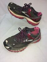 Brooks Glycerin 10 Womens Running Cross Training Shoes Gray Pink Size 9