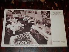 HULL QUEBEC CANADA - RARE OLD POSTCARD - CAFE HENRY BURGER - LAURIER ST.