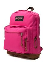 "NWT JANSPORT RIGHT PACK 15"" LAPTOP BACKPACK - CYBER PINK - MACHINE WASH"