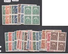 El Salvador 1895 Plate Proof Blocks of 4 X 29 MNG (11dmp)