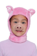 Pink Pig Child Mask and Hood for Halloween Costume