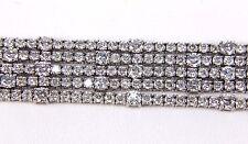 Round 5 Row Split Cluster Diamond Lady's Tennis Bracelet 18K White Gold 16.61Ct