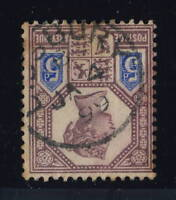 "GB - QV - 1899 - ""LEDBURY"" THIMBLE CDS ON SG 207a 5d PURPLE & BLUE Die 2"