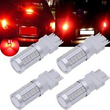 4X Red 3157 Strobe light 3156 3057 Flash  33SMD 5730 LED Brake Light Tail Bulb