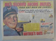 """Quaker Cereal Ad: """"World Champion Air Pilot!"""" 1940's Size: 11 x 15 inches"""