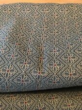 Upholstery fabric green diamond with gold red accents 4.4 yards polyester