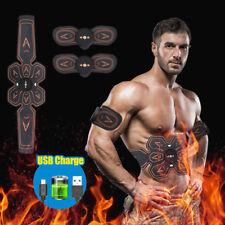 Smart EMS Abdominal Muscle Training Gear ABS Workout Belt USB Rechargable