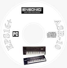 Ensoniq EPS16 + (Plus) / ASR-10 Sound Library, Manual, MIDI Software & Editor CD